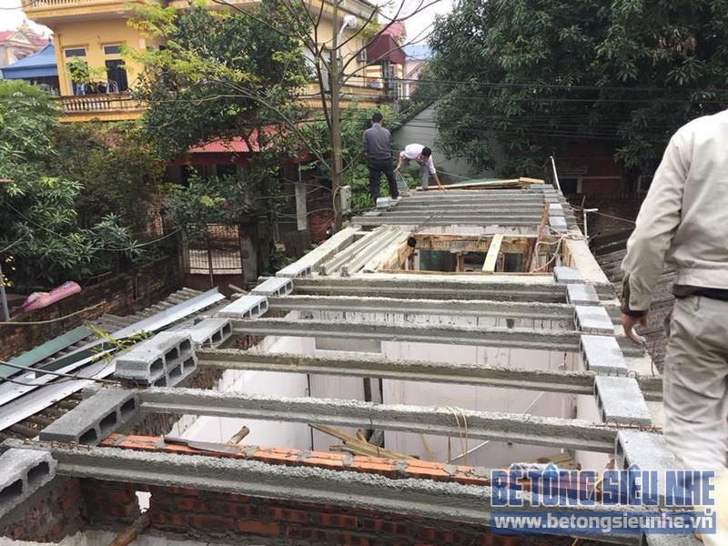 Thi công sàn bê tông siêu nhẹ làm mái nhà cho gia đình anh Doanh, Sóc Sơn, Hà Nội - 02