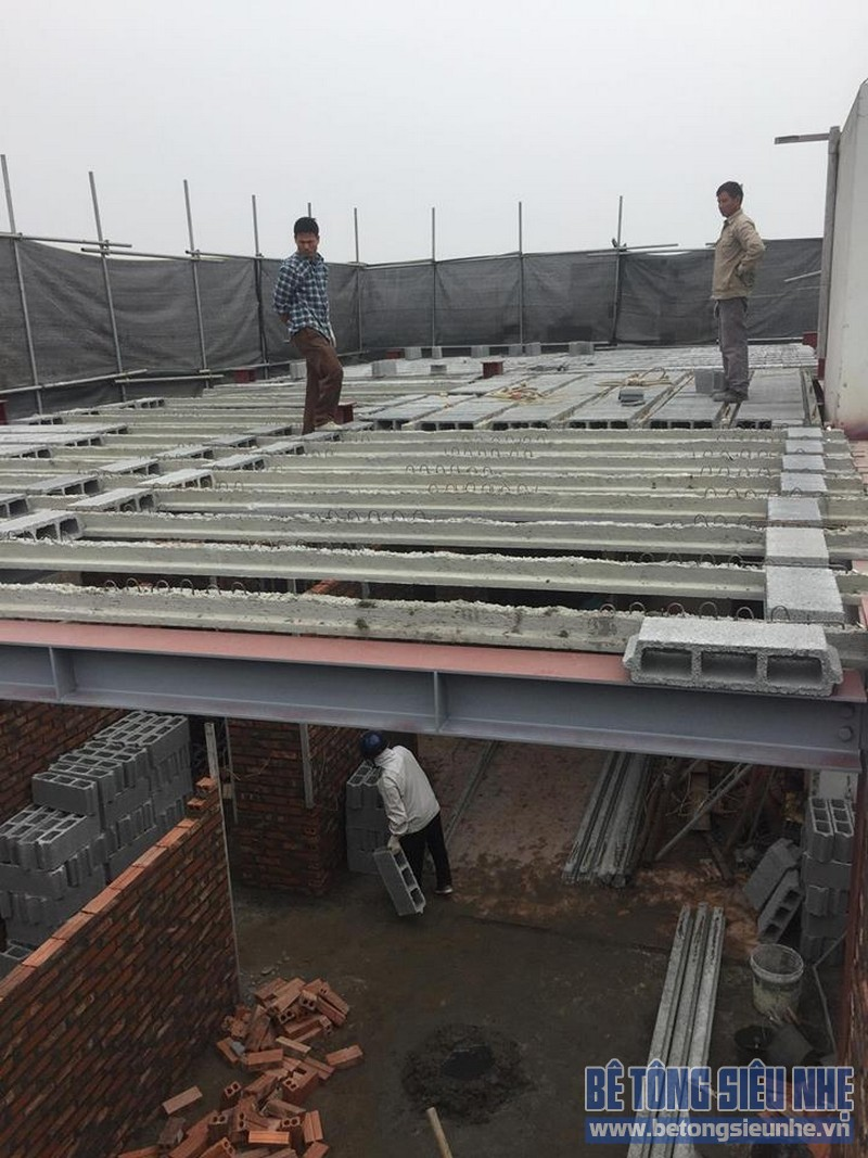 Nâng tầng nhà phố bằng bê tông nhẹ và hệ khung thép nhà anh Dũng, Hoài Đức, Hà Nội - 01