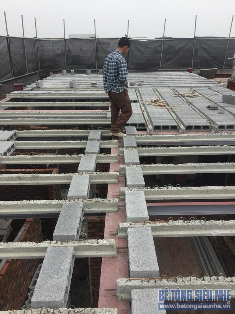 Nâng tầng nhà phố bằng bê tông nhẹ và hệ khung thép nhà anh Dũng, Hoài Đức, Hà Nội - 02
