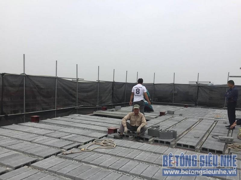 Nâng tầng nhà phố bằng bê tông nhẹ và hệ khung thép nhà anh Dũng, Hoài Đức, Hà Nội - 04