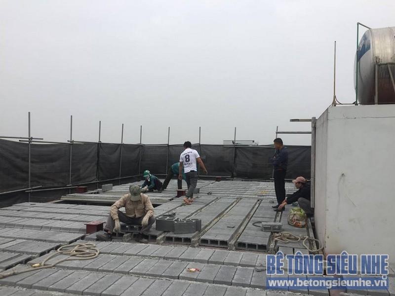 Nâng tầng nhà phố bằng bê tông nhẹ và hệ khung thép nhà anh Dũng, Hoài Đức, Hà Nội - 06