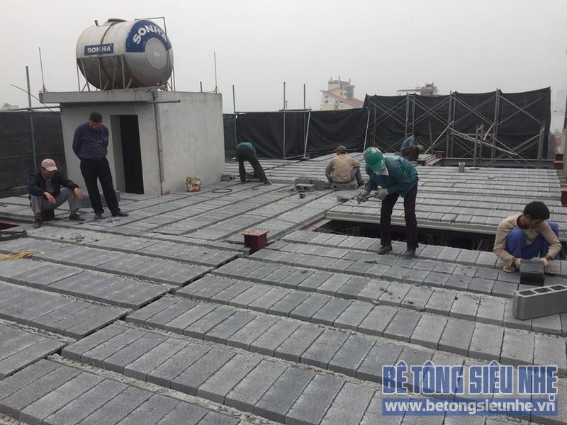 Nâng tầng nhà phố bằng bê tông nhẹ và hệ khung thép nhà anh Dũng, Hoài Đức, Hà Nội - 08