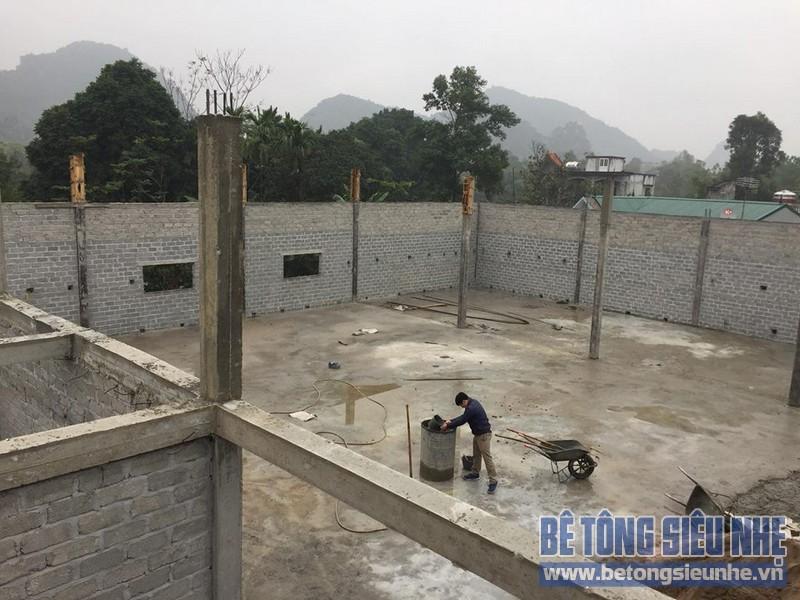 Công trình xây nhà bằng gạch siêu nhẹ nhà anh Tú ở Yên Viên, Gia Lâm