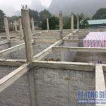 Công trình xây nhà xưởng bằng gạch siêu nhẹ của anh Tú ở Yên Viên, Gia Lâm
