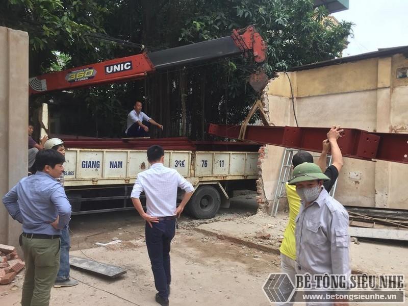 Lắp dựng nhà thép tiền chế tại nhà anh Cường Hoài Đức, Hà Nội - 01