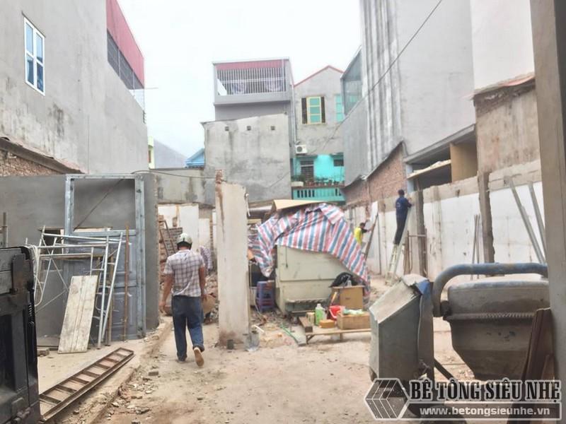 Lắp dựng nhà thép tiền chế tại nhà anh Cường Hoài Đức, Hà Nội - 02