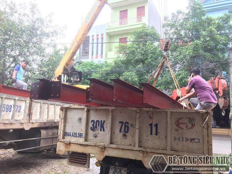 Lắp dựng nhà thép tiền chế tại nhà anh Cường Hoài Đức, Hà Nội - 03