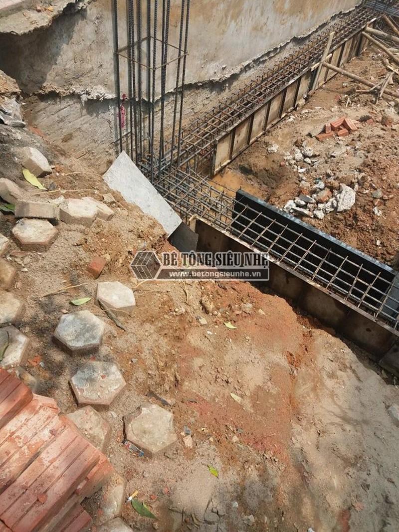 Thi công phần móng để dựng nhà khung thép tại công trình nhà anh Thu, Ba Vì, Hà Nội -02