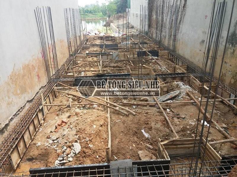 Thi công phần móng đaể dựng nhà khung thép tại công trình nhà anh Thu, Ba Vì, Hà Nội -03