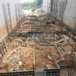 Thi công phần móng để dựng nhà khung thép tại công trình nhà anh Thu, Ba Vì, Hà Nội