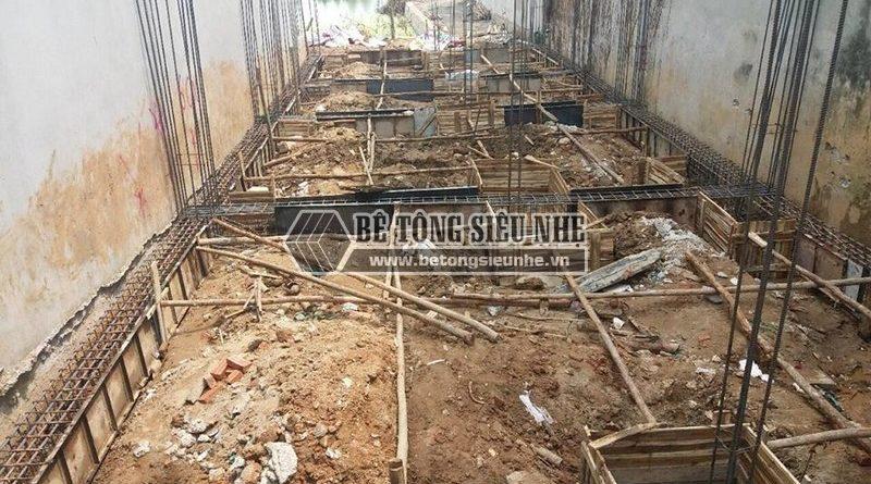 Thi công phần móng để dựng nhà khung thép tại công trình nhà anh Thu, Ba Vì, Hà Nội -04