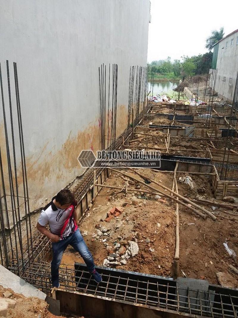 Thi công phần móng để dựng nhà khung thép tại công trình nhà anh Thu, Ba Vì, Hà Nội -05