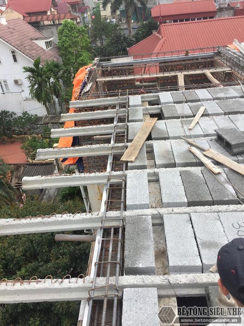 Nâng tầng bằng vật liệu nhẹ - bê tông siêu nhẹ nhà anh Chiến, Từ Liêm, Hà Nội - 01