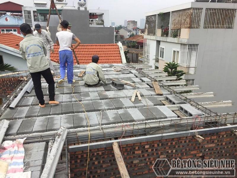 Nâng tầng bằng vật liệu nhẹ - bê tông siêu nhẹ nhà anh Chiến, Từ Liêm, Hà Nội - 02