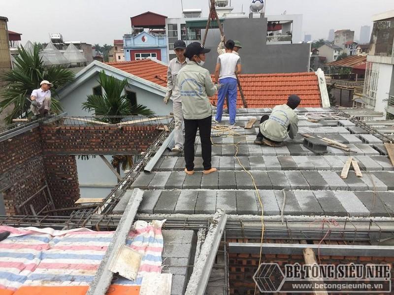 Nâng tầng bằng vật liệu nhẹ - bê tông siêu nhẹ nhà anh Chiến, Từ Liêm, Hà Nội - 05