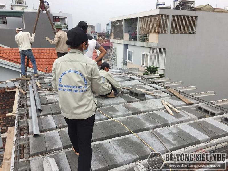 Nâng tầng bằng vật liệu nhẹ - bê tông siêu nhẹ nhà anh Chiến, Từ Liêm, Hà Nội - 06