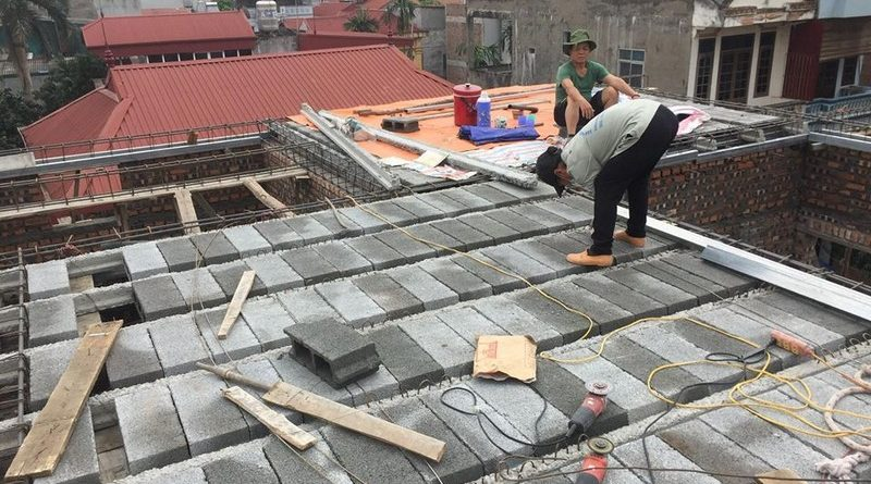 Nâng tầng bằng vật liệu nhẹ - bê tông siêu nhẹ nhà anh Chiến, Từ Liêm, Hà Nội - 07