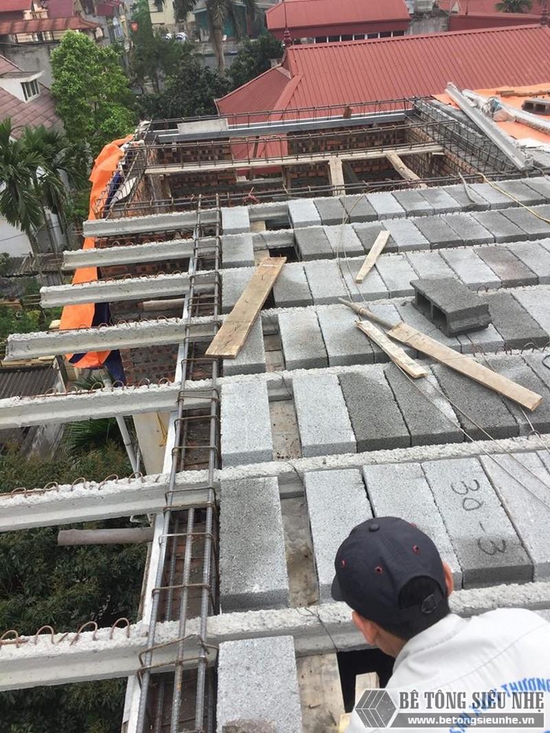 Nâng tầng bằng vật liệu nhẹ - bê tông siêu nhẹ nhà anh Chiến, Từ Liêm, Hà Nội - 08