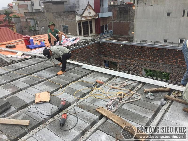 Nâng tầng bằng vật liệu nhẹ - bê tông siêu nhẹ nhà anh Chiến, Từ Liêm, Hà Nội - 09