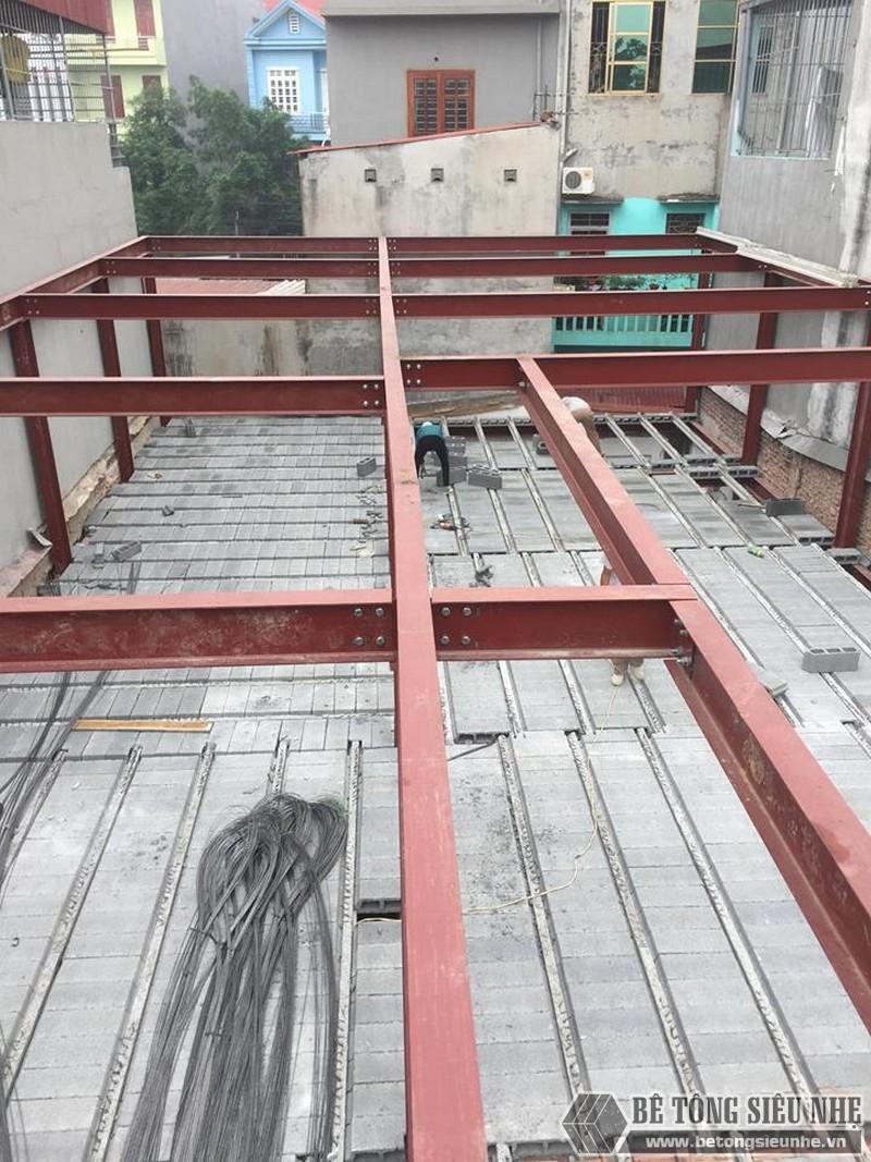 Lắp dựng nhà khung thép và sàn bê tông siêu nhẹ cho nhà xưởng tại Từ Sơn, Bắc Ninh - 01