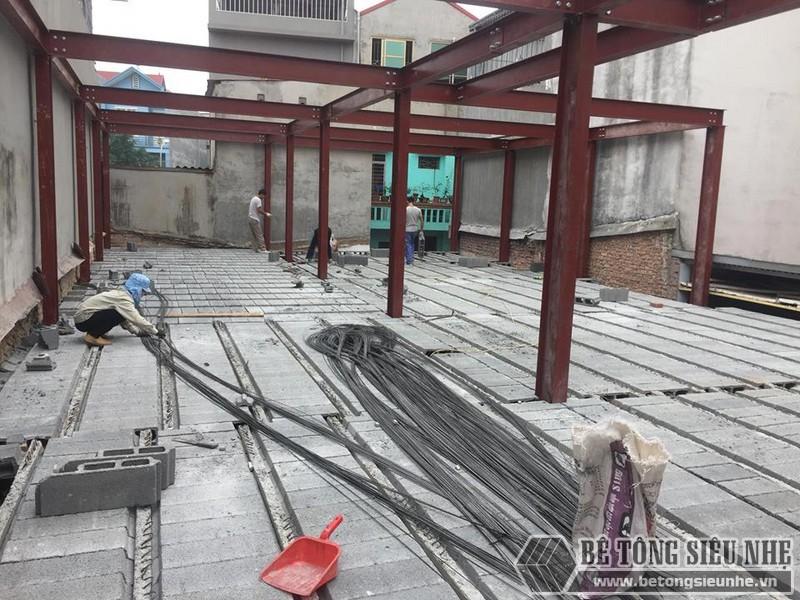 Lắp dựng nhà khung thép và sàn bê tông siêu nhẹ cho nhà xưởng tại Từ Sơn, Bắc Ninh - 08