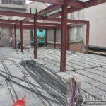 Lắp dựng nhà khung thép và sàn bê tông siêu nhẹ cho nhà xưởng tại Từ Sơn, Bắc Ninh