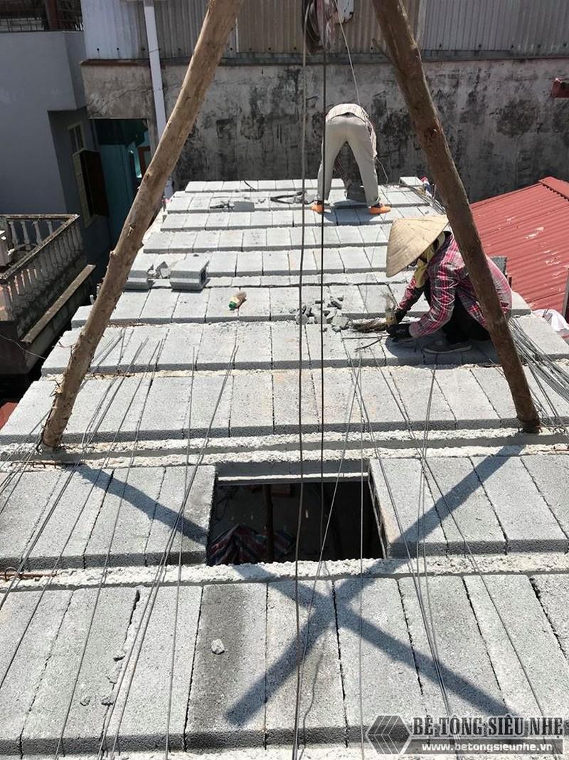 Nâng tầng bằng vật liệu nhẹ, sàn bê tông nhẹ nhà anh Tiến, Hoàng Mai, Hà Nội - 01