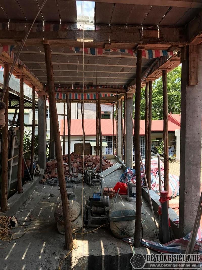 Nâng tầng bằng vật liệu nhẹ, sàn bê tông nhẹ nhà anh Tiến, Hoàng Mai, Hà Nội - 02