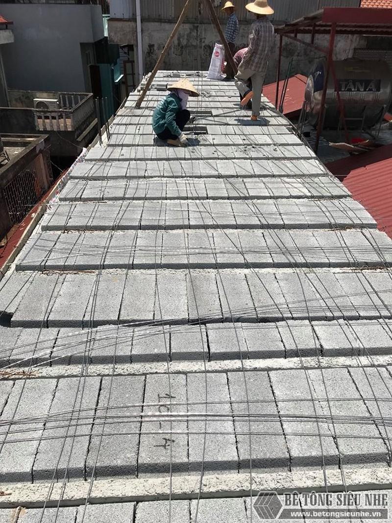 Nâng tầng bằng vật liệu nhẹ, sàn bê tông nhẹ nhà anh Tiến, Hoàng Mai, Hà Nội - 03
