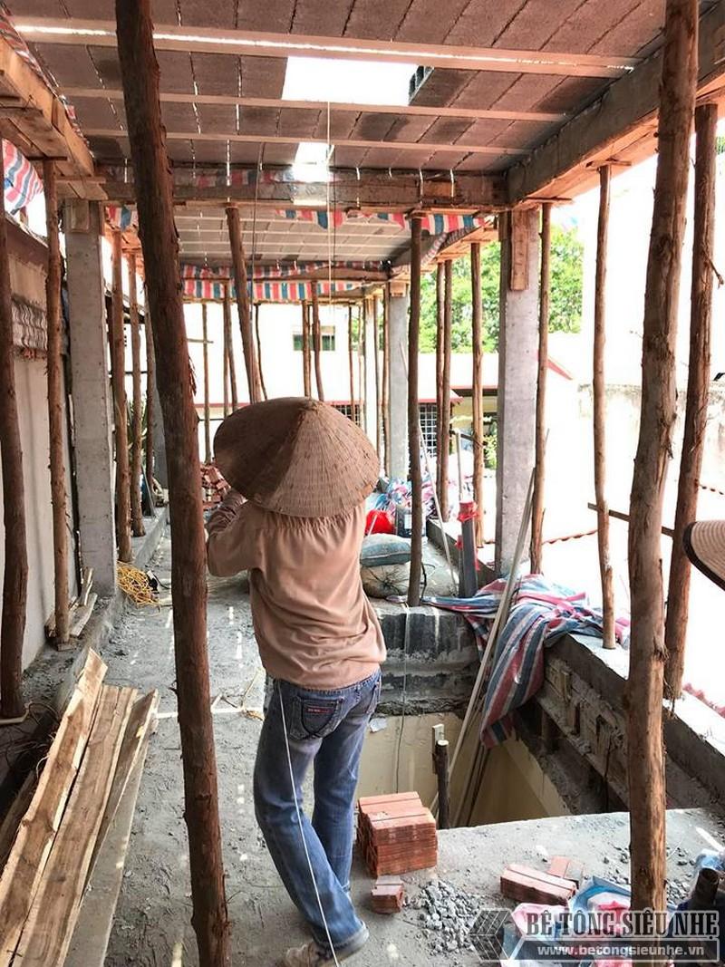 Nâng tầng bằng vật liệu nhẹ, sàn bê tông nhẹ nhà anh Tiến, Hoàng Mai, Hà Nội - 04