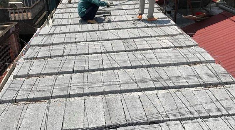 Nâng tầng bằng vật liệu nhẹ, sàn bê tông nhẹ nhà anh Tiến, Hoàng Mai, Hà Nội - 05