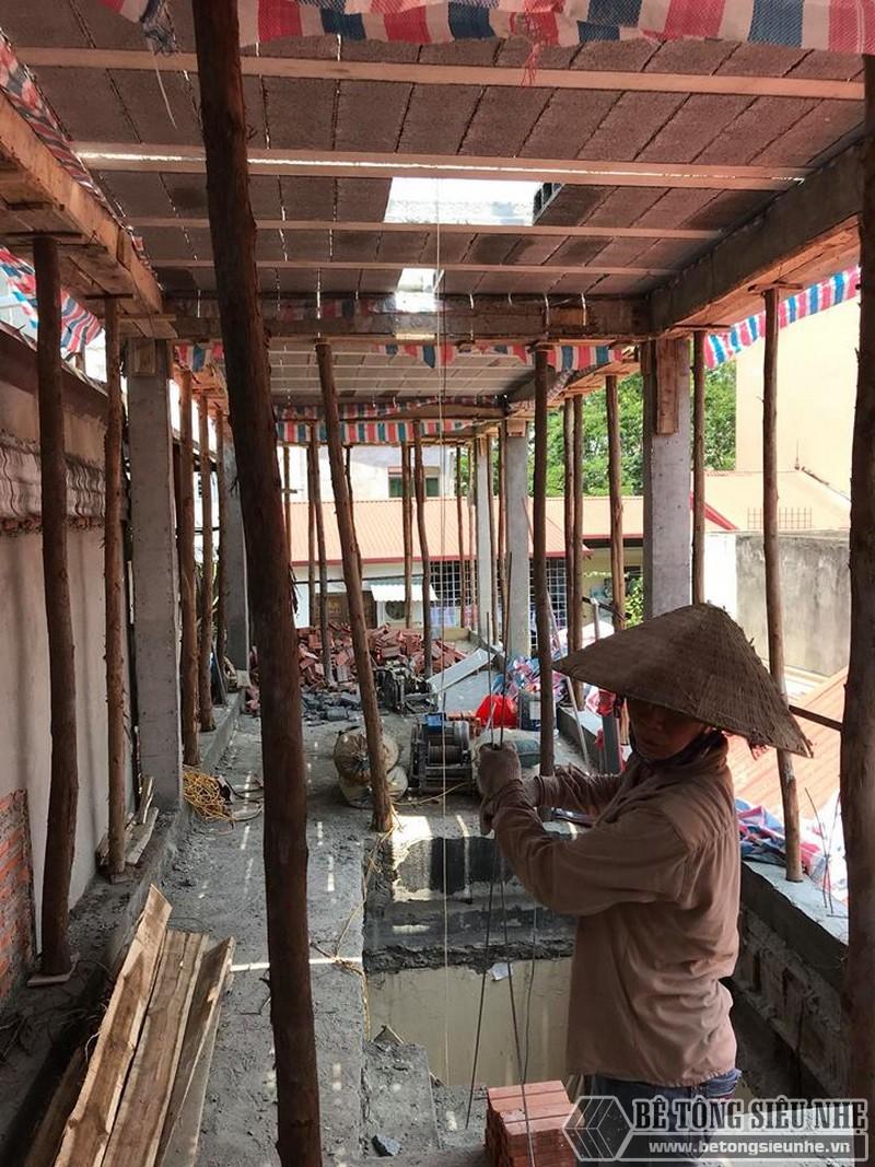 Nâng tầng bằng vật liệu nhẹ, sàn bê tông nhẹ nhà anh Tiến, Hoàng Mai, Hà Nội - 06