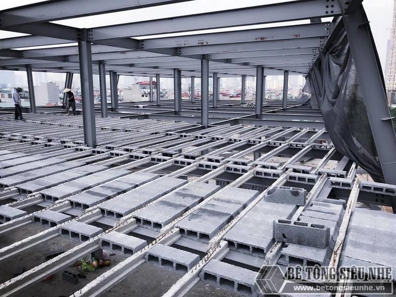 Thi công nhà khung thép giá rẻ và sàn bê tông nhẹ tại Hà Đông, Hà Nội - 01