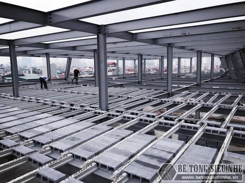 Thi công nhà khung thép giá rẻ và sàn bê tông nhẹ tại Hà Đông, Hà Nội - 03