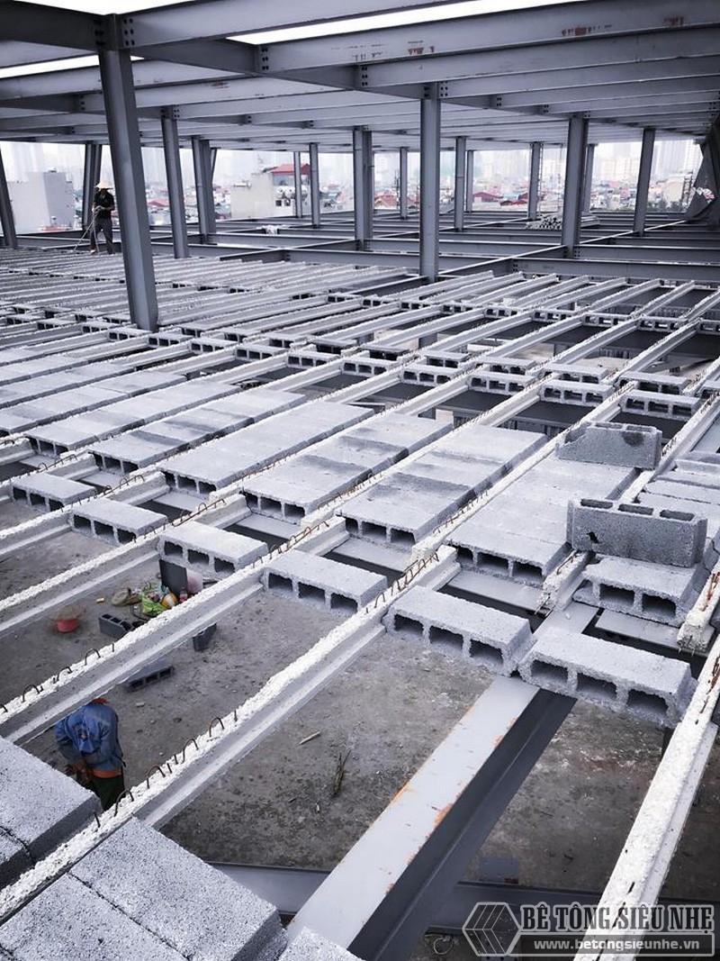 Thi công nhà khung thép giá rẻ và sàn bê tông nhẹ tại Hà Đông, Hà Nội - 04
