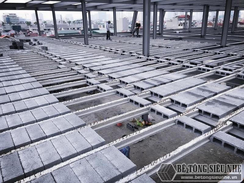 Thi công nhà khung thép giá rẻ và sàn bê tông nhẹ tại Hà Đông, Hà Nội - 05