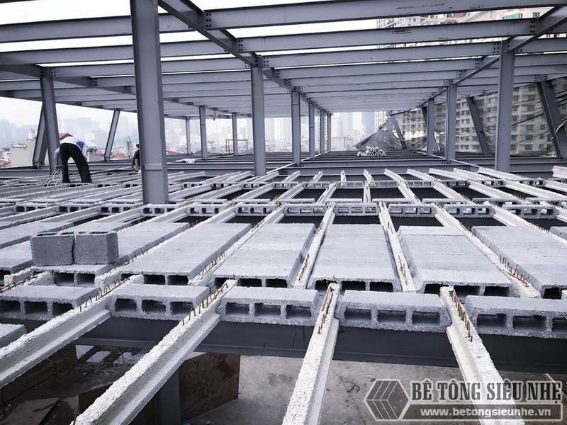 Thi công nhà khung thép giá rẻ và sàn bê tông nhẹ tại Hà Đông, Hà Nội - 06