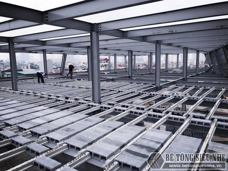 Thi công nhà khung thép giá rẻ và sàn bê tông nhẹ tại Hà Đông, Hà Nội - 09