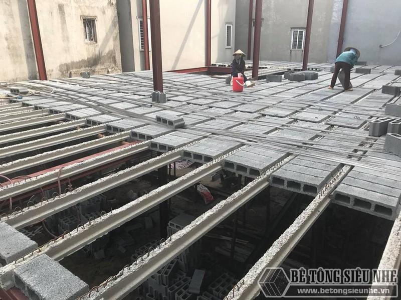 Thi công nhà khung thép, sàn bê tông nhẹ tại Xuân La, Tây Hồ, Hà Nội - 06