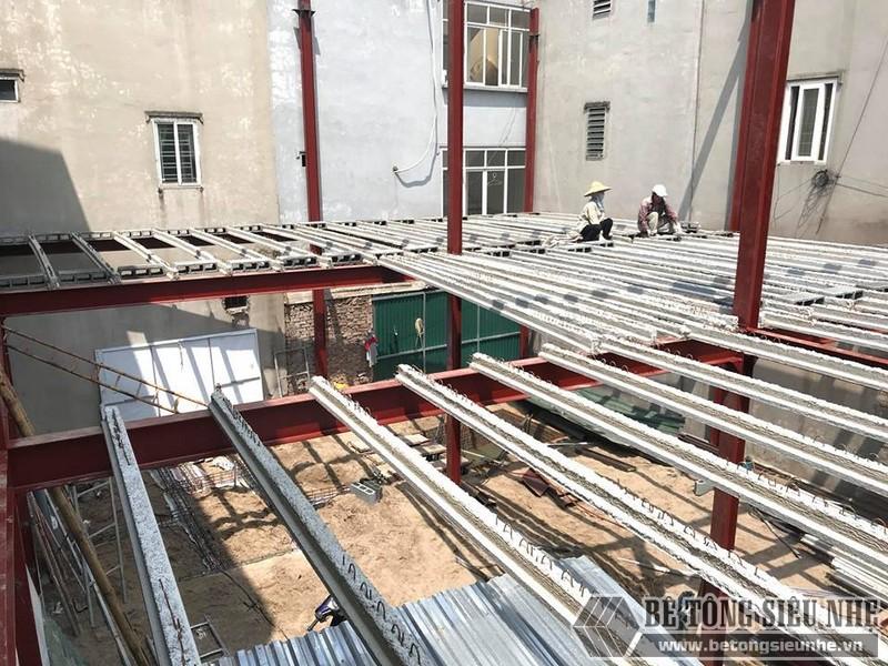 Thi công nhà khung thép, sàn bê tông nhẹ tại Xuân La, Tây Hồ, Hà Nội - 05