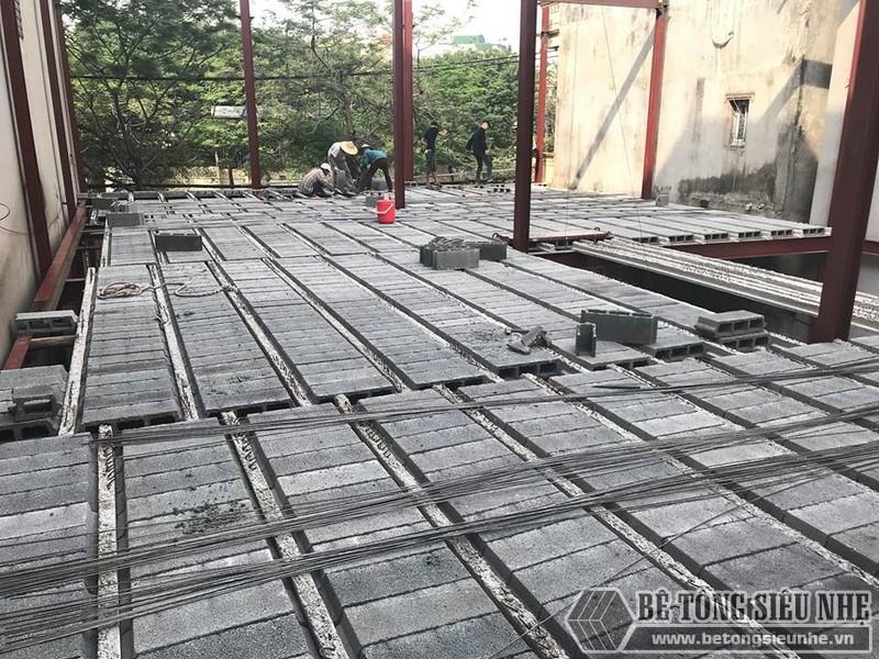 Thi công nhà khung thép, sàn bê tông nhẹ tại Xuân La, Tây Hồ, Hà Nội - 04