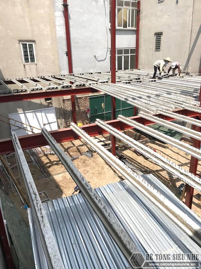 Thi công nhà khung thép, sàn bê tông nhẹ tại Xuân La, Tây Hồ, Hà Nội - 03