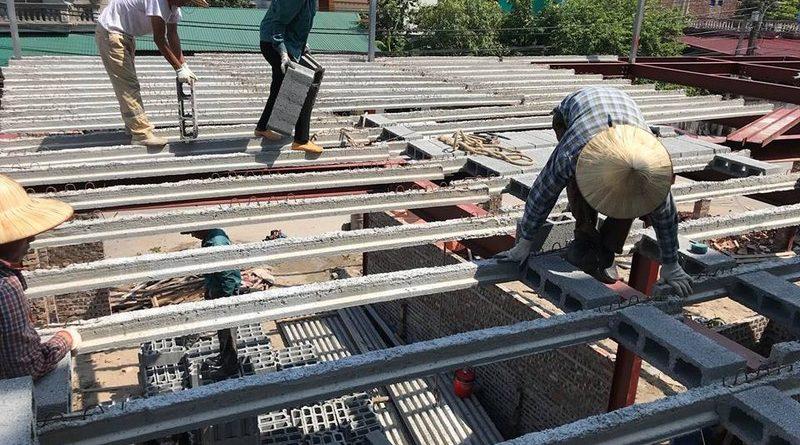 Thi công nhà khung thép và sàn bê tông nhẹ tại xã Trung Mầu, Gia Lâm, Hà Nội - 06