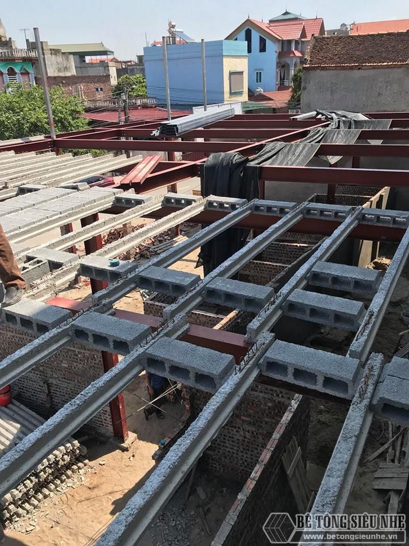 cThi công nhà khung thép và sàn bê tông nhẹ tại xã Trung Mầu, Gia Lâm, Hà Nội - 07
