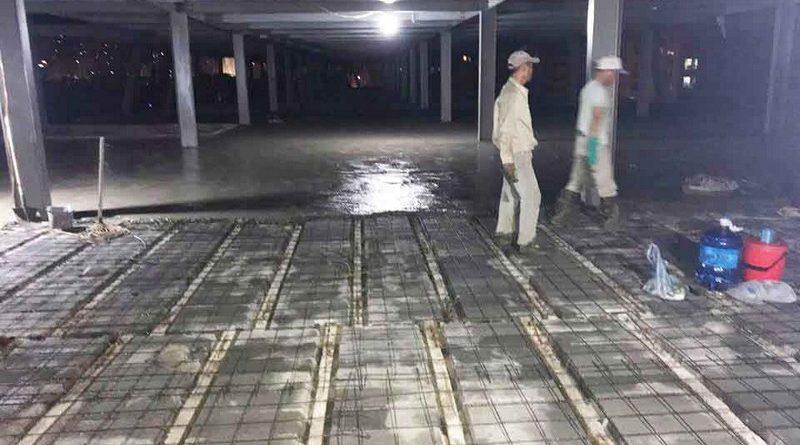 Thi công hệ khung thép và sàn bê tông nhẹ làm trung tâm thương mại tại Đông Anh, Hà Nội - 05
