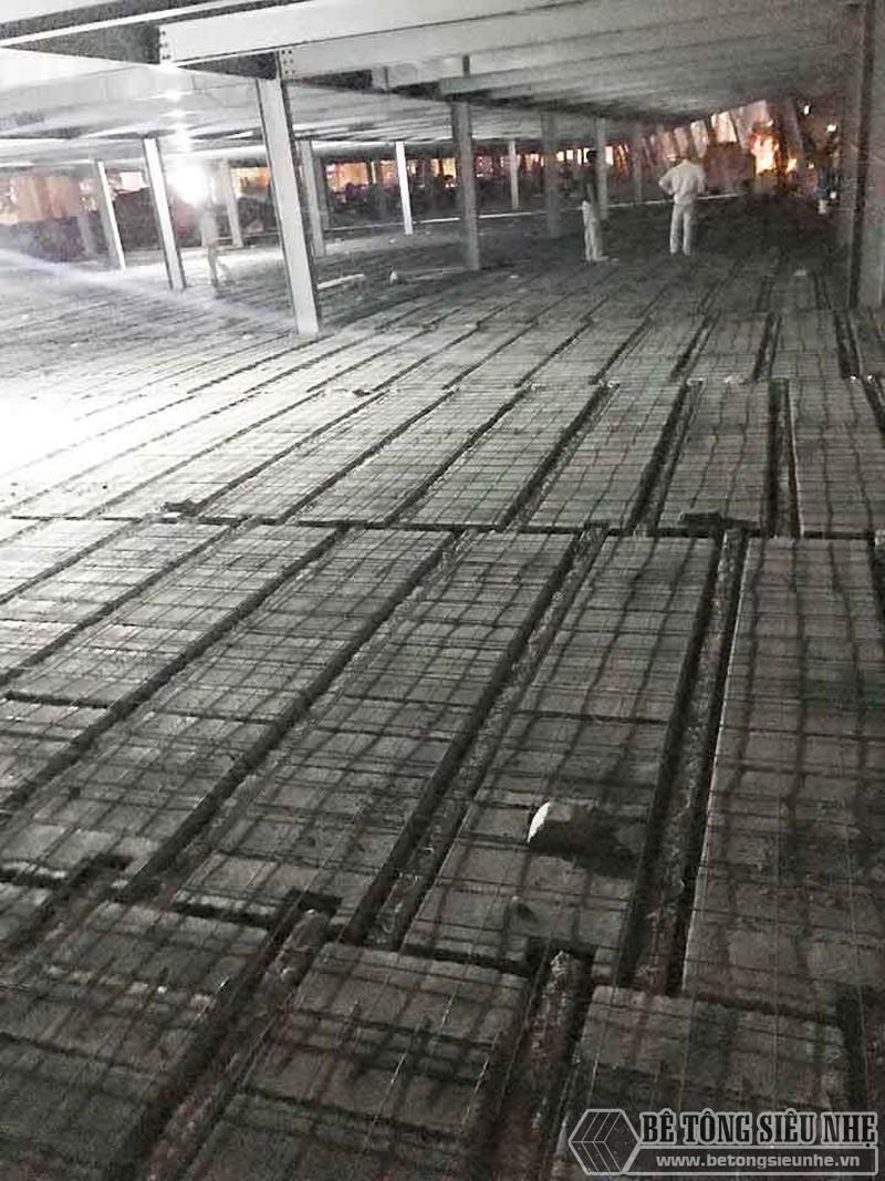 Thi công hệ khung thép và sàn bê tông nhẹ làm trung tâm thương mại tại Đông Anh, Hà Nội - 03