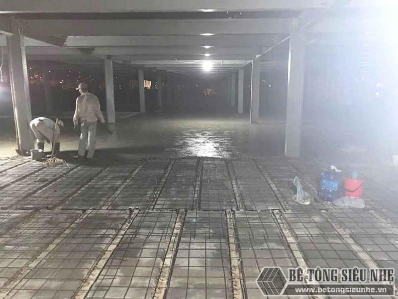 Thi công hệ khung thép và sàn bê tông nhẹ làm trung tâm thương mại tại Đông Anh, Hà Nội - 07