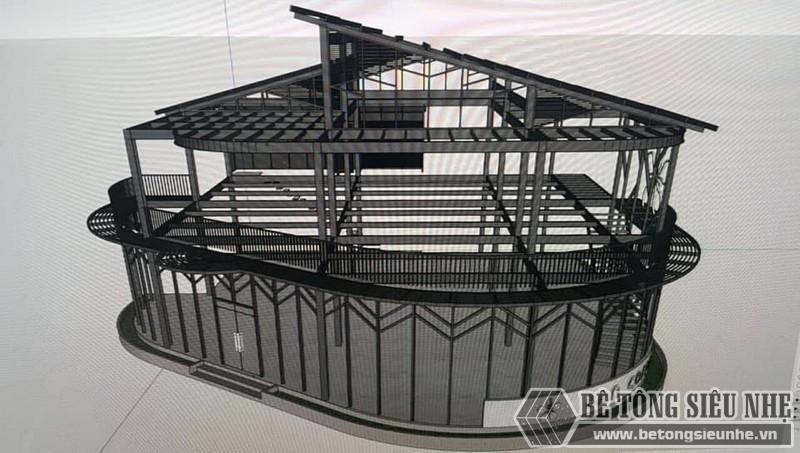 Mô hình nhà khung thép được kiến trúc sư của chúng tôi thiết kế cho gia đình anh Định - 01