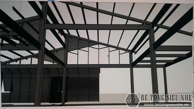 Mô hình nhà khung thép được kiến trúc sư của chúng tôi thiết kế cho gia đình anh Định - 02