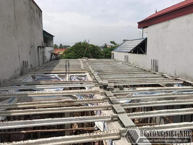 Sàn bê tông nhẹ thi công tại nhà anh Liêm, Thạch Thất, Hà Nội - 01